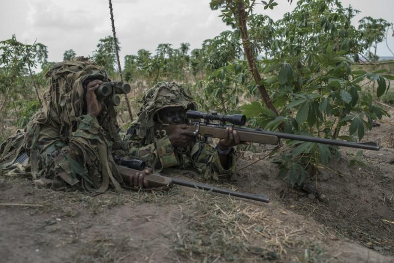 Nigeria soldiers have been fighting jihadists in the country for more than a decade (AFP Photo/STEFAN HEUNIS)