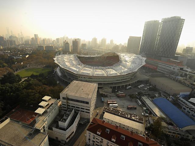 A view of the Hongkou Stadium where Shanghai Shenhua Football Club: Getty Images