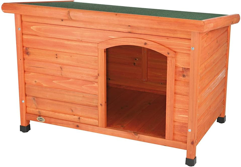 trixie classic outdoor wooden dog house