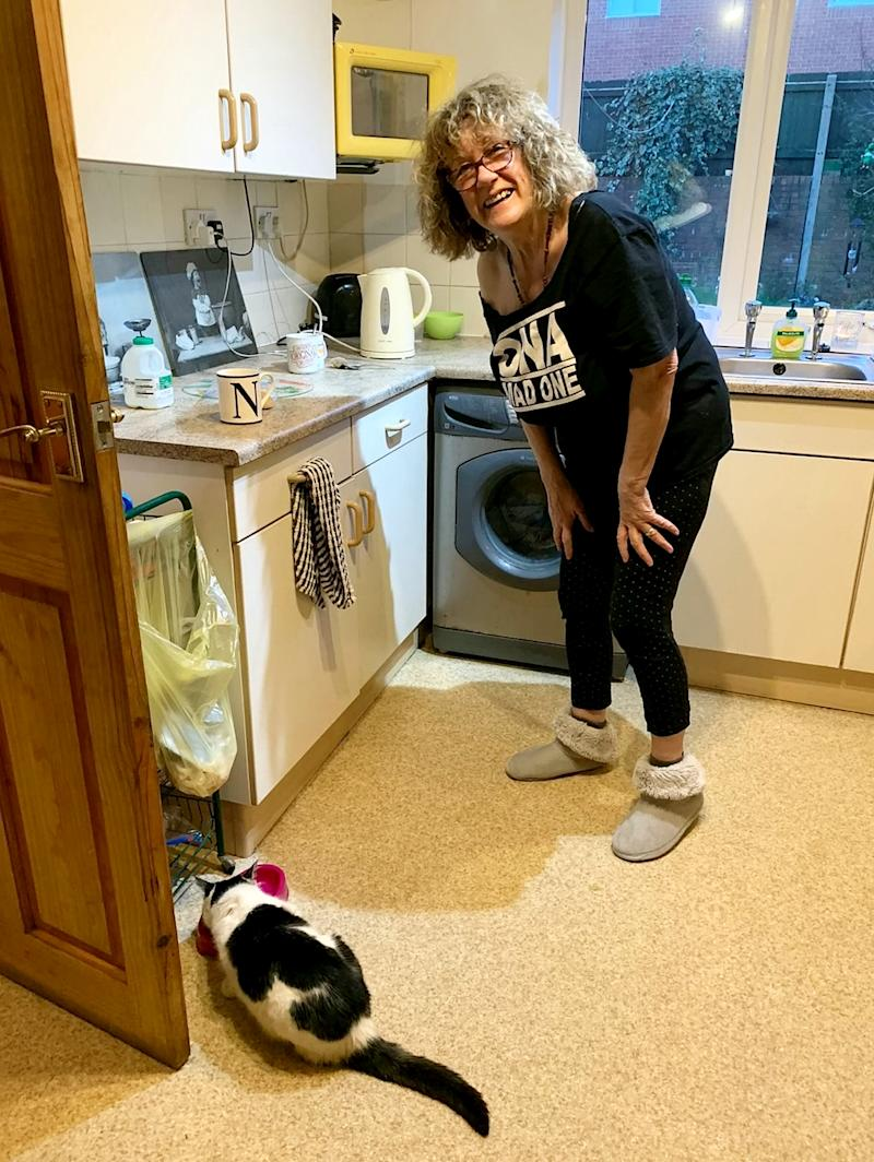 Missy the cat re-united with Eve McDonnell (Picture: SWNS)