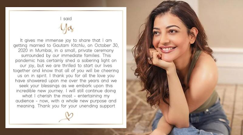 It's Official! Kajal Aggarwal and Gautam Kitchlu to Tie the Knot on October 30 in Mumbai