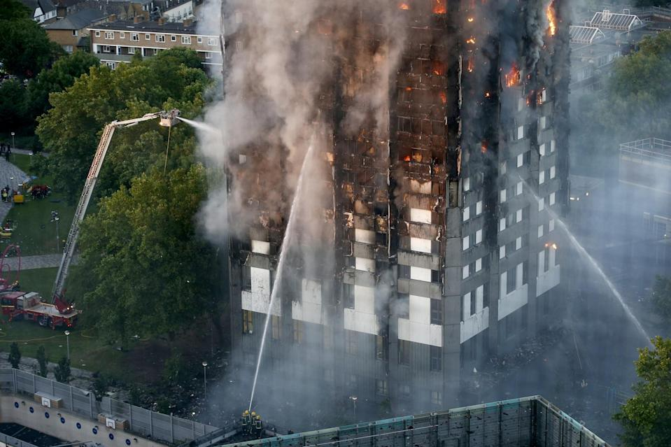 The fire at the Grenfell Tower broke out early on Wednesday morning (SWNS)