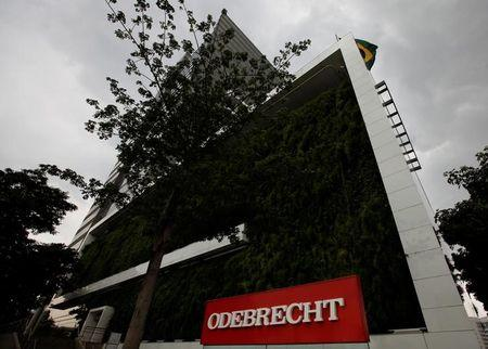 The headquarters of Odebrecht SA are pictured in Sao Paulo