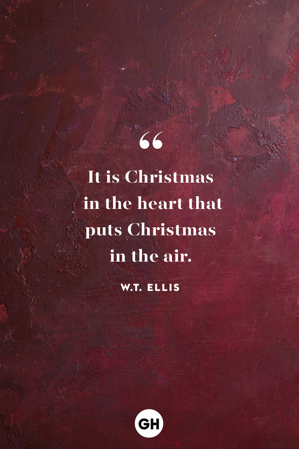 <p>It is Christmas in the heart that puts Christmas in the air. </p>