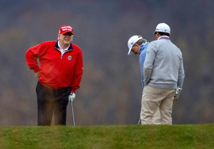 As president, Donald Trump golfed about every weekend he could, always at one of his own courses
