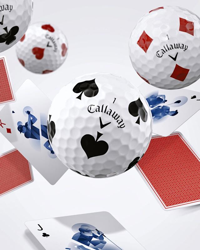 "Callaway Golf continues to go ""all in"" on its Truvis ball line with poker-themed Truvis Suits golf balls."
