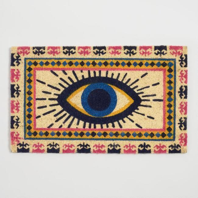 "<p>Don't underestimate the decor power of a statement doormat.</p><br><br><strong>Cost Plus World Market</strong> Yellow & Blue Evil Eye Coir Doormat, $16.98, available at <a href=""https://www.worldmarket.com/product/yellow-and-blue-evil-eye-coir-doormat.do"" rel=""nofollow noopener"" target=""_blank"" data-ylk=""slk:Cost Plus World Market"" class=""link rapid-noclick-resp"">Cost Plus World Market</a>"