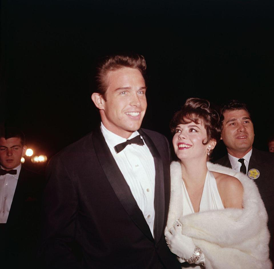"<p>Beatty and Wood's relationship had its ups and downs, mainly due to Beatty's rumored infidelity. Two years after they started dating on the set of <em>Splendor in the Grass</em>, <a href=""https://groovyhistory.com/warren-beatty-love-life-list"" rel=""nofollow noopener"" target=""_blank"" data-ylk=""slk:they parted ways"" class=""link rapid-noclick-resp"">they parted ways</a>. </p>"