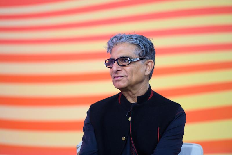 TODAY -- Pictured: Deepak Chopra on Tuesday, April 9, 2019 -- (Photo by: Nathan Congleton/NBCU Photo Bank/NBCUniversal via Getty Images via Getty Images)