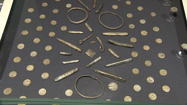 Part of the huge hoard of Anglo-Saxon treasures