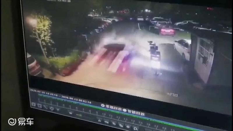 Video Shows Tesla Model 3 Breaking Into Parking Lot In China: SUA Case?