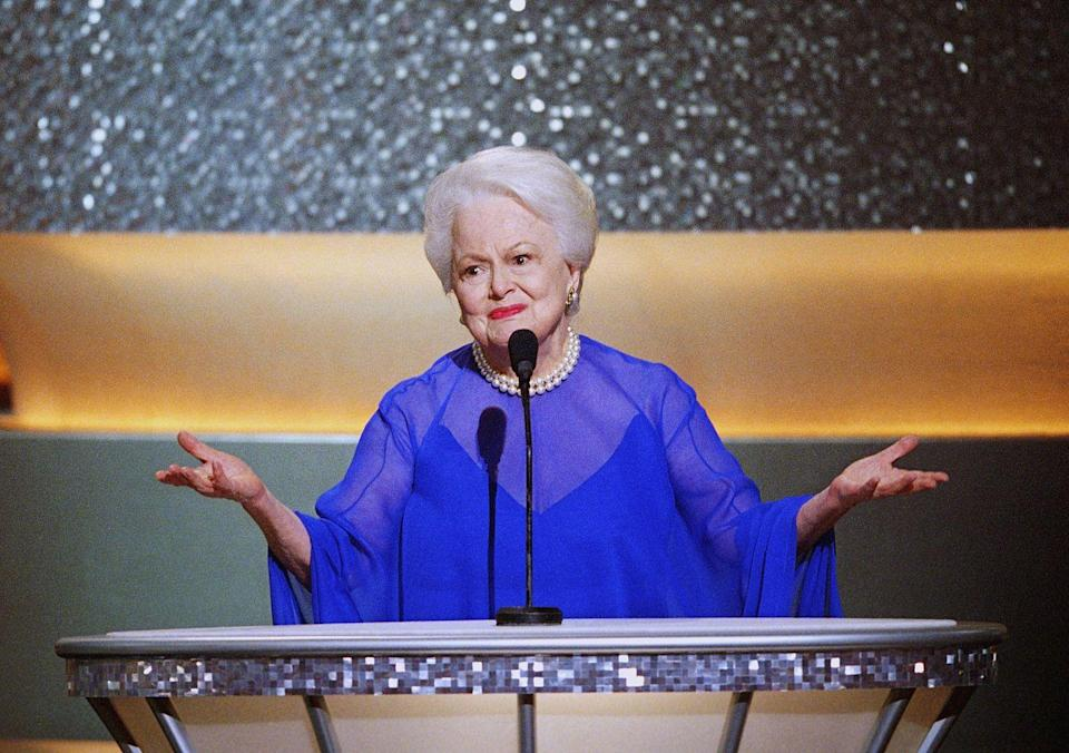 <p>Olivia de Havilland at the 75th Annual Academy Awards in 2003.</p>