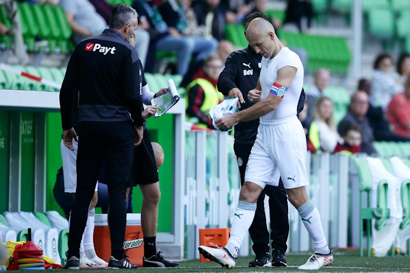 Robben's Groningen comeback in doubt after debut ends in groin injury