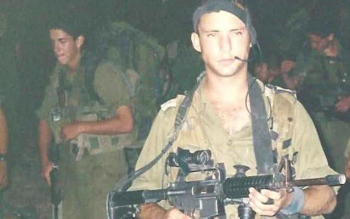 Naftali Bennett seen here as an officer in the elite IDF unit Maglan during his military service