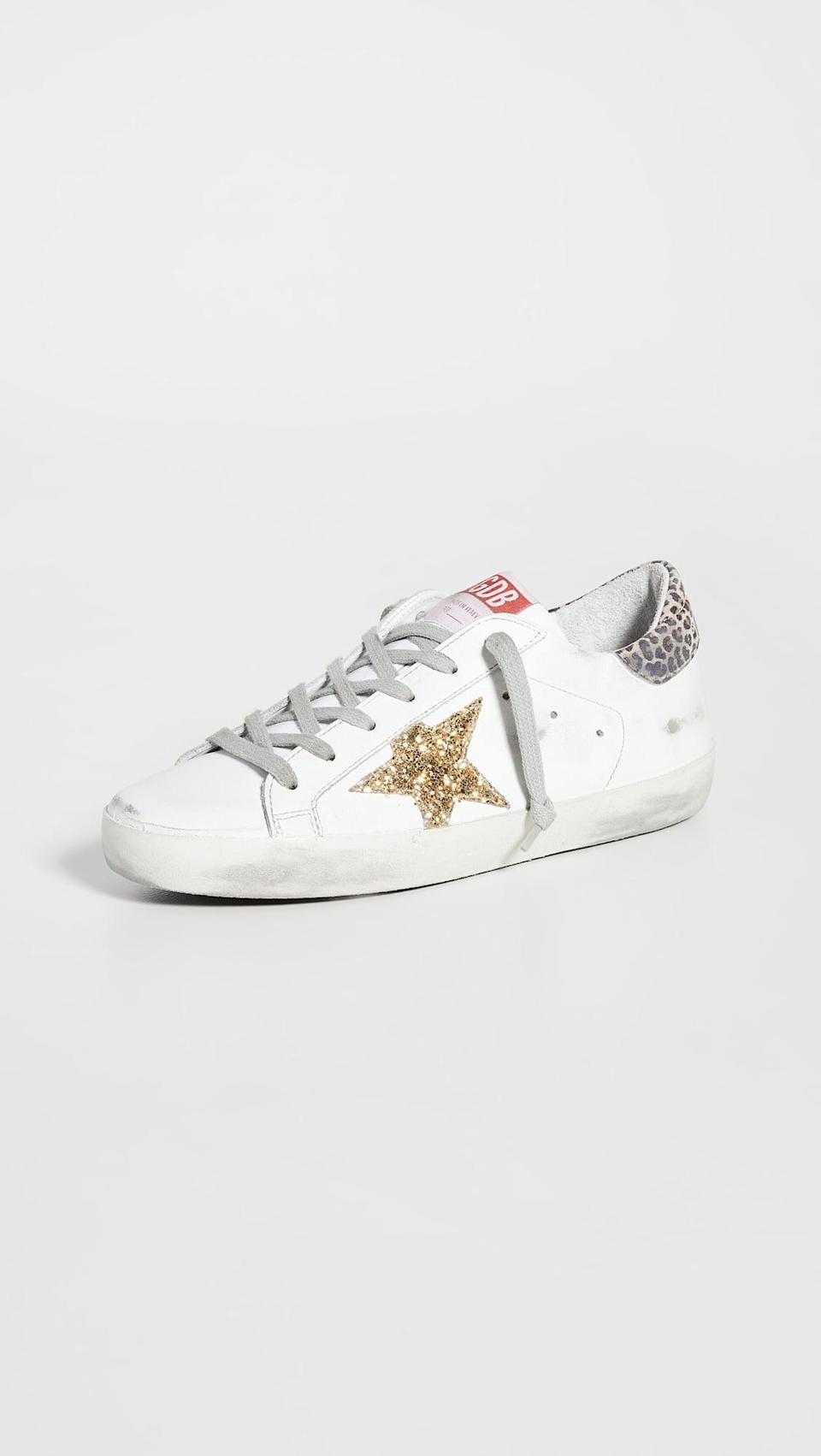 <p>Sneakers with style are perfect for Libras. We're into these <span>Golden Goose Superstar Sneakers</span> ($530).</p>