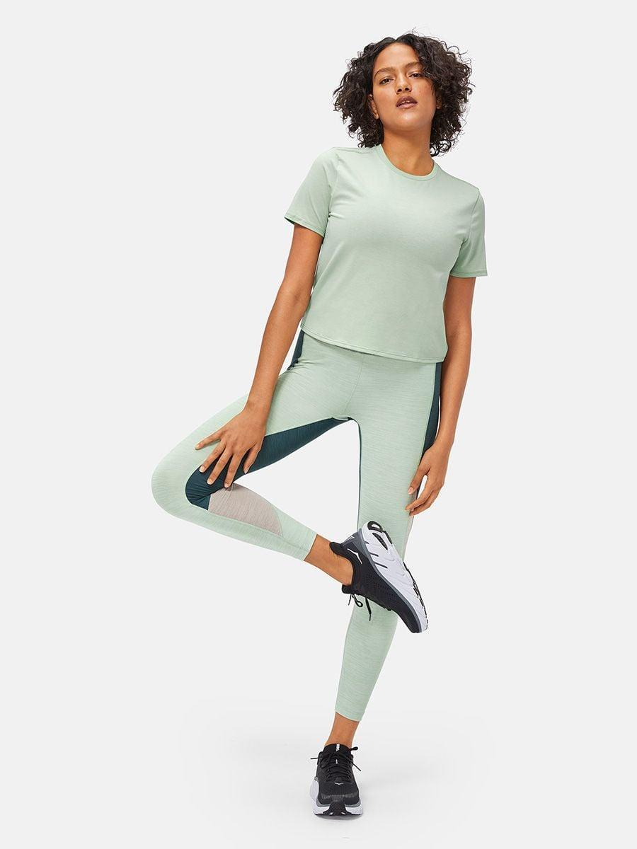 <p>If you like a little more coverage, go with this classic <span>Outdoor Voices Ready Set Shortsleeve</span> ($48). I love the light-green hue.</p>