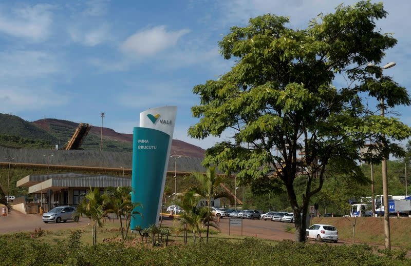 FILE PHOTO: A view of the entrance of Brucutu mine owned by Brazilian mining company Vale SA, in Sao Goncalo do Rio Abaixo