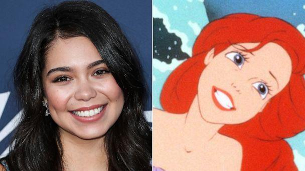 PHOTO: Actress Auli'i Cravalho arrives at Variety's Power Of Young Hollywood 2019 held at the h Club Los Angeles on August 6, 2019, in Hollywood. | Ariel is shown in a scene from The Little Mermaid. (Xavier Collin/Image Press Agency/Sipa USA via AP | Disney)