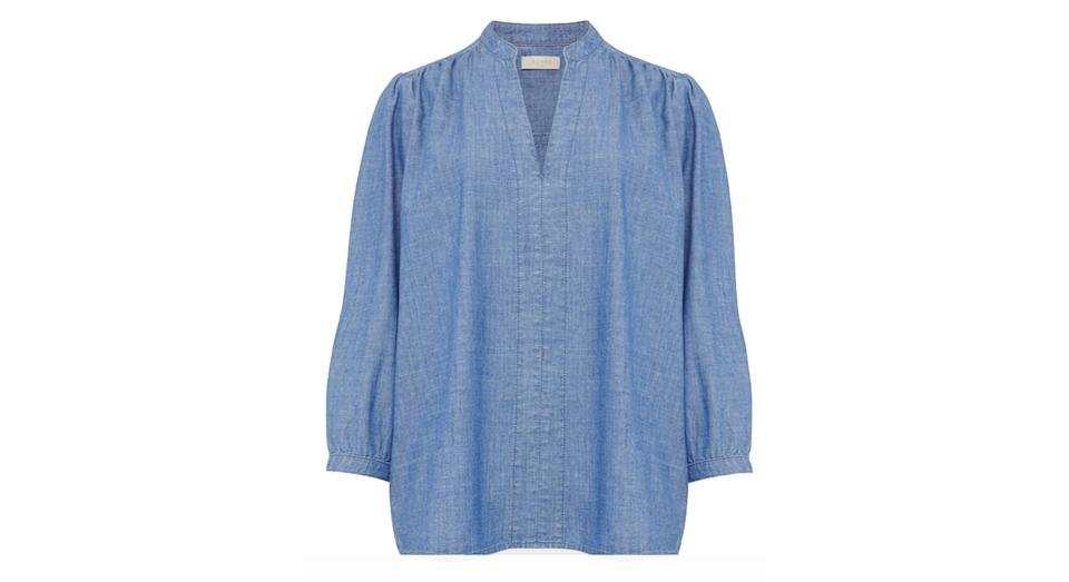 HOBBS Pure Cotton Long Sleeve Blouse