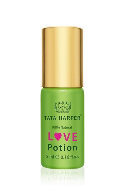 A blend of jasmine, orange peel, rose and other potent essentials oils promises to heighten sensuality and stimulate the senses. Tata Harper Love Potion ($40)