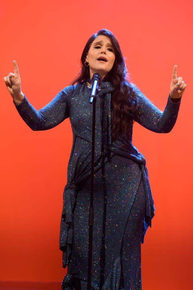 Jessie Ware performs during filming for the Graham Norton Show