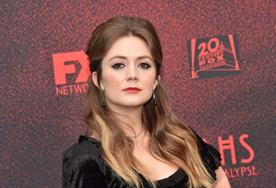 """US actress Billie Lourd arrives for 20th Century Fox Television/FX's """"American Horror Story: Apocalypse"""" FYC red carpet event at Neuehouse on May 18, 2019 in Hollywood. (Photo by Chris Delmas / AFP)        (Photo credit should read CHRIS DELMAS/AFP via Getty Images)"""