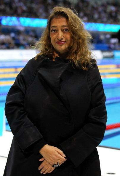 Zaha Hadid the Architect for the London 2012 Aquatics centre poses during day seven of the British Gas Swimming Championships at The London Aquatics Centre on March 9, 2012 in London, England. (Photo by Al Bello/Getty Images)