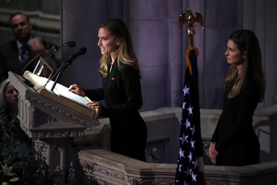 Lauren Bush and Ashley Walker Bush during the State Funeral for former President George H.W. Bush at the National Cathedral in Washington, D.C., Dec. 5, 2018. (Photo: Jonathan Ernst/Reuters)