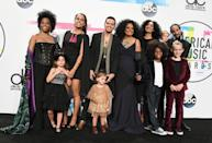 <p>Diana Ross and her entire family celebrated her career when the American Music Awards honored her with a Lifetime Achievement Award in 2017. Joining her on the red carpet were her five children and five grandchildren. </p>