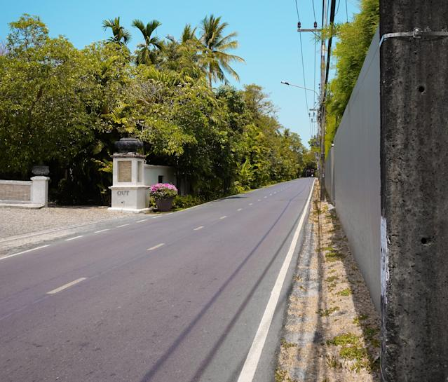 The streets of Phuket, usually bustling with tourists and activity, are completely deserted. (Daniel Worthington)