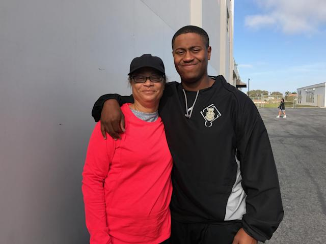 LaShawn Gilmore first introduced her son, George Eaves, to the Major League Baseball Urban Youth Academy when he was 10. (LaShawn Gilmore)