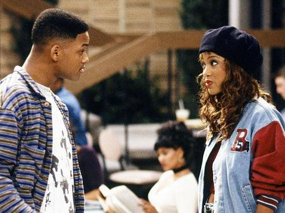 Will Smith as Will and Tyra Banks as Jackie Ames in Fresh Prince of Bel-Air: NBCUniversal