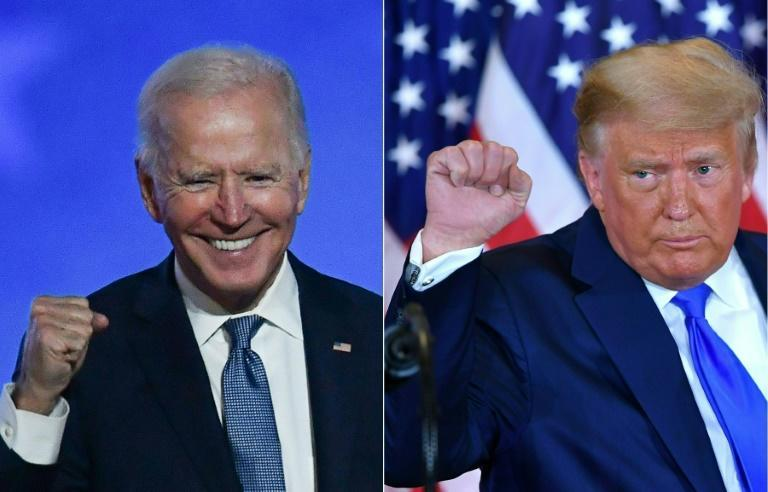 Democratic presidential candidate Joe Biden may hold a lead but US President Donald Trump has gone to court to try to stop vote counting