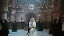 """<p><a href=""""https://www.popsugar.com/entertainment/Nun-Based-True-Story-45231405"""" class=""""link rapid-noclick-resp"""" rel=""""nofollow noopener"""" target=""""_blank"""" data-ylk=""""slk:The Nun""""><strong>The Nun</strong></a> follows the investigation of a suspicious death at a remote Romanian abbey by a skeptical priest, a nun-in-training who keeps having visions, and a local man. Set in 1952, the film sheds light on the origins of Valak, the demonic nun seen terrorizing Lorraine Warren in <strong>The Conjuring 2</strong>. The ending jumps ahead to 1971, connecting Frenchie to the events of <strong>The Conjuring</strong> and the seminar held by Ed and Lorraine Warren. </p> <p>When the film was released in 2018, fans theorized there could be a deeper connection between Sister Irene and Lorraine Warren due to the actresses real-life familial connection; they're played by sisters Taissa and Vera Farmiga. """"<a href=""""https://www.comingsoon.net/movies/news/979005-exclusive-the-nuns-taissa-farmiga-on-sister-irenes-conjuring-connection"""" class=""""link rapid-noclick-resp"""" rel=""""nofollow noopener"""" target=""""_blank"""" data-ylk=""""slk:I think it could be fun"""">I think it could be fun</a>,"""" Taissa said in a previous interview with Coming Soon. """"I think that we should see what the writers come up with. I feel like if they do it they'll find a fun, interesting way to make it happen and it won't be too obvious. That's what I hope. Maybe my expectations are too high? I think it's gonna be great, we'll see. No promises, I can't promise!""""</p>"""