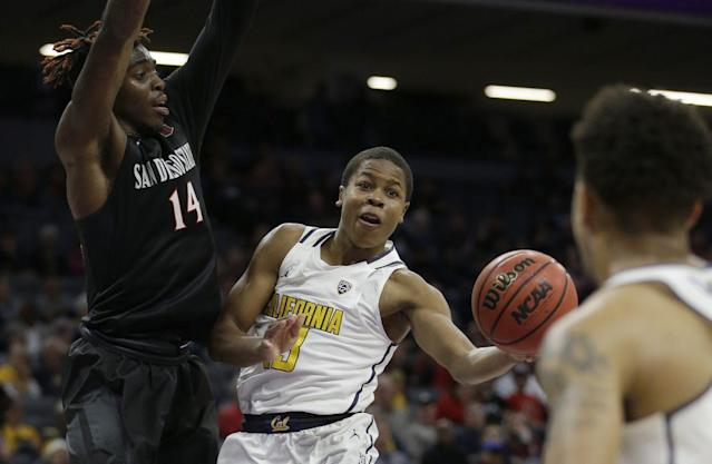 Cal transfer Charlie Moore will be the heir apparent for Kansas at point guard. (AP)