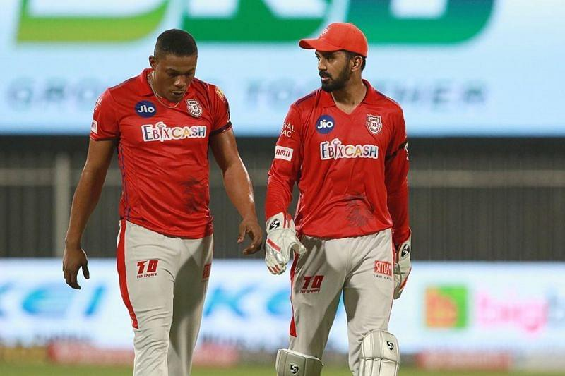 Sheldon Cottrell was distraught after Rahul Tewatia's late mauling in the 18th over.