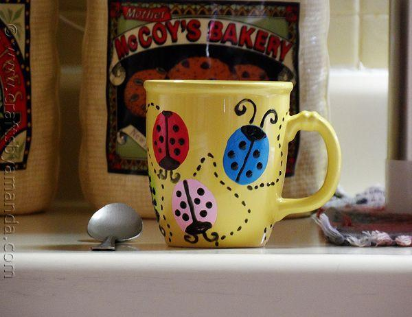 """<p>""""There's something utterly cute and cheerful about a ladybug craft,"""" blogger Amanda writes, and she proves just that with this hand-painted ladybug mug. Morning coffee just got better!</p><p><strong>Get the tutorial at <a href=""""https://craftsbyamanda.com/ladybug-coffee-mug/"""" rel=""""nofollow noopener"""" target=""""_blank"""" data-ylk=""""slk:Crafts by Amanda"""" class=""""link rapid-noclick-resp"""">Crafts by Amanda</a>.</strong></p><p><strong>What you'll need: </strong><em>yellow coffee mug ($12, </em><em><a href=""""https://www.wayfair.com/kitchen-tabletop/pdp/fiesta-tapered-coffee-mug-fie3803.html?sku=fie3803&piid=24186020"""" rel=""""nofollow noopener"""" target=""""_blank"""" data-ylk=""""slk:wayfair.com"""" class=""""link rapid-noclick-resp"""">wayfair.com</a>), acrylic paint set ($15, <a href=""""http://www.michaels.com/artists-loft-metallic-acrylic-paint-set-12ct/10256254.html"""" rel=""""nofollow noopener"""" target=""""_blank"""" data-ylk=""""slk:michaels.com"""" class=""""link rapid-noclick-resp"""">michaels.com</a>)</em><br></p>"""