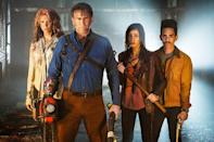 """<p><b>This Season's Theme: </b> """"Ash returns home,"""" says executive producer and star Bruce Campbell. We'll find out that his habit of leaving things worse than he found them has been a life-long pattern and his hometown still remembers. """"The town doesn't want him back!"""" <br><br><b>Where We Left Off:</b> Ash leaves the Necronomicon with Ruby and the end of the world is imminent.<br><br><b>Coming Up:</b> After three movies and a full season of television, we'll finally get to find out about Ash's past. """"It's a great chance to find out about his family dynamics,"""" promises Campbell. """"He's got to save the world and repair his damaged reputation."""" Ray Santiago and Dana DeLorenzo are back, and Lucy Lawless will be a much bigger presence. """"Last year, she just wasn't available until halfway through the season,"""" due to her commitments on <i>Salem</i>, but, """"She's a major player this season and we couldn't be happier."""" And he calls Lee Majors – best known as the Six Million Dollar Man – """"the perfect guy"""" to play his dad, because Ash and Steve Austin are """"both guys with missing parts."""" <br><br><b>A Little Slice of Home:</b> What do you do when your show is set in small-town Michigan, but you're shooting in New Zealand? You send your production designer to Gladwin, Michigan (which the town in Season 2 is patterned after) so that when you build your set, it's as authentic as possible. """"I'm jealous! He spent a summer on the road looking at small towns in Michigan."""" <i>– RC</i> <br><br>(Credit: Starz)</p>"""