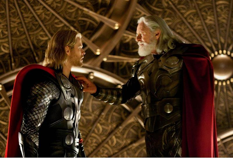 Chris Hemsworth and Anthony Hopkins in Kenneth Branagh's 2011 film 'Thor' (Rex)