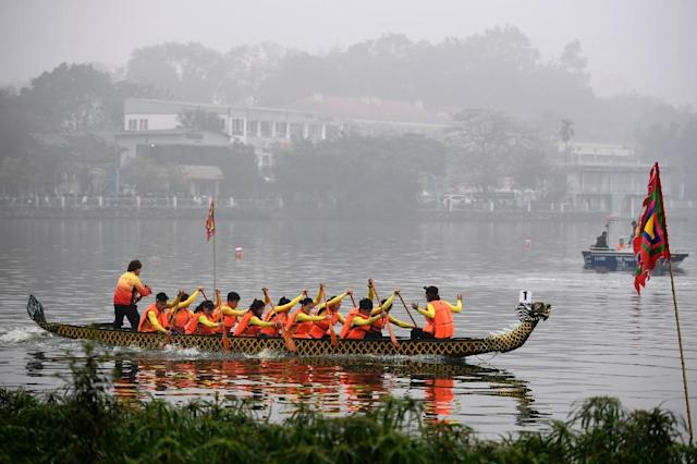 Hanoi authorities say they want to expand the race regionally if Saturday's trial competition is deemed successful (AFP Photo/Nhac Nguyen)