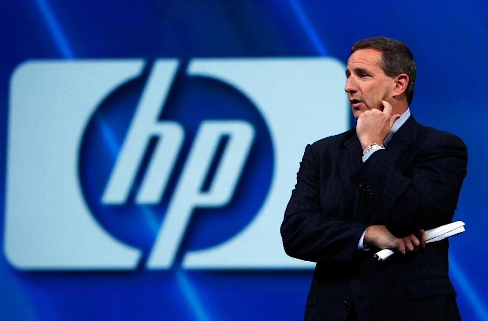 In 2008 under CEO Mark Hurd, Hewlett-Packard moved into services with a $13 billion deal for Electronic Data System (AFP Photo/Justin Sullivan)