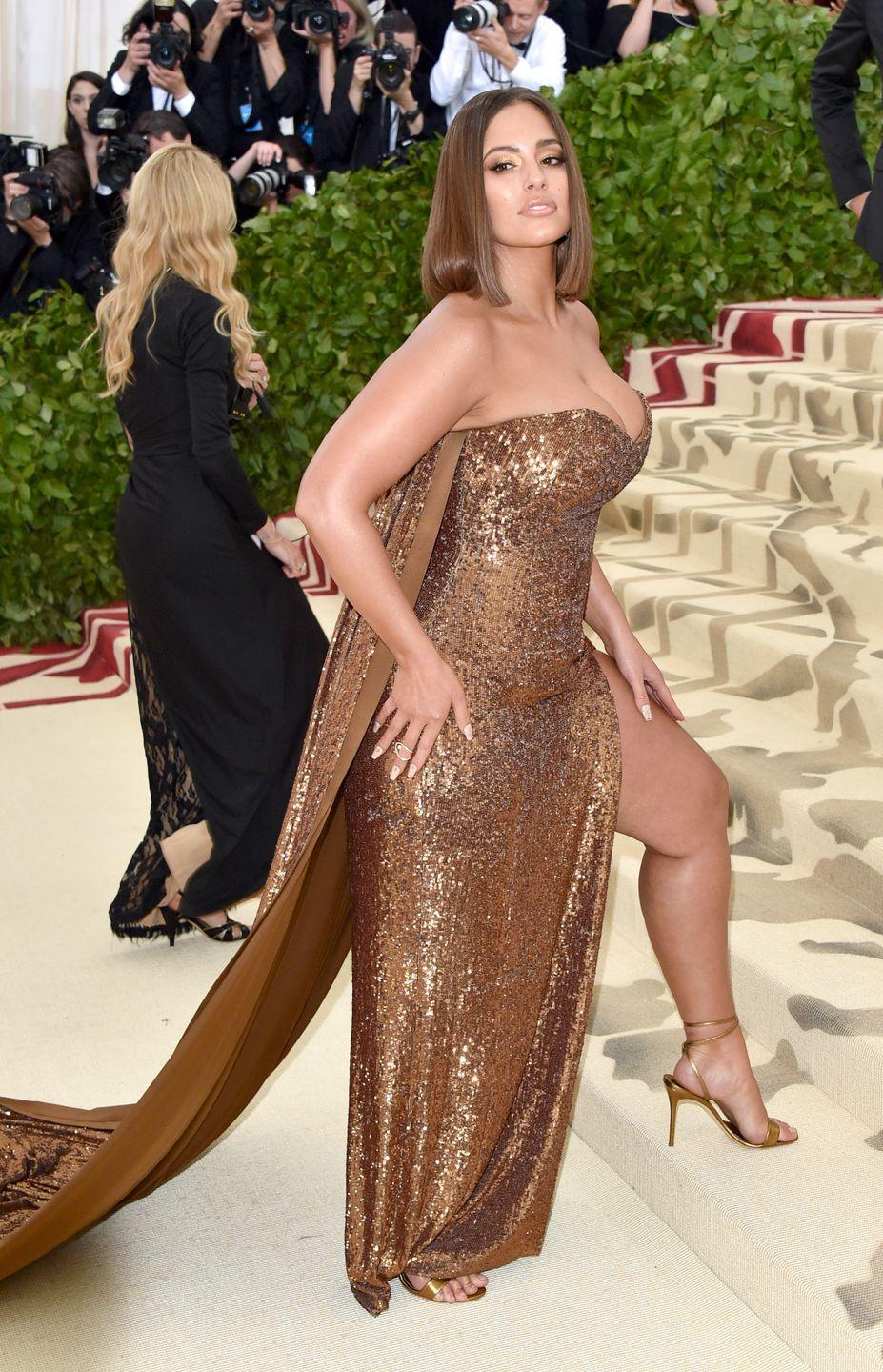 <p>At the 2018 Met Gala: Ashley came to slay at the 2018 Met Ball wearing a sexy, caped sequin number.</p>