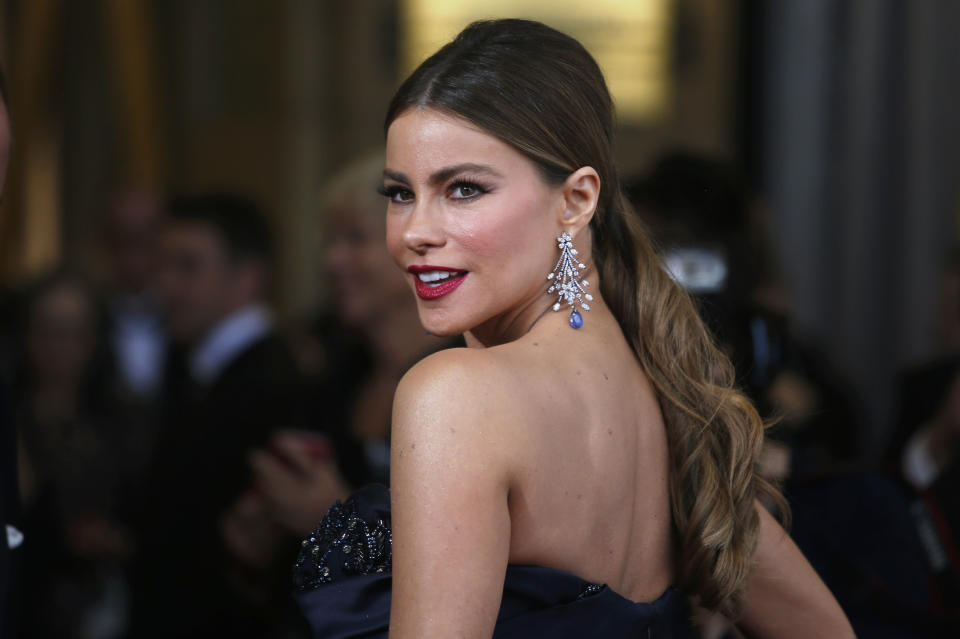 Presenter Sofia Vergara arrives at the 88th Academy Awards in Hollywood, California February 28, 2016.  REUTERS/Adrees Latif TPX IMAGES OF THE DAY
