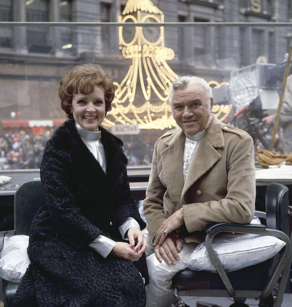 "<p>In 1968, White and Greene co-hosted the Macy's Thanksgiving Day Parade in New York City. White once told <em><a href=""https://parade.com/634316/samuelmurrian/betty-white-on-her-legacy-memories-and-her-recipe-for-living-a-long-happy-life/"" rel=""nofollow noopener"" target=""_blank"" data-ylk=""slk:Parade"" class=""link rapid-noclick-resp"">Parade</a></em> her best tip is, ""Enjoy life. Accentuate the positive, not the negative. It sounds so trite, but a lot of people will pick out something to complain about, rather than say, 'Hey, that was great!' It's not hard to find great stuff if you look.""</p>"