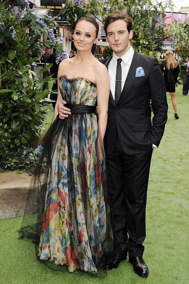 """Laura Haddock and Sam Clafin attend the London premiere of """"Snow White and the Huntsman"""" on May 14, 2012."""