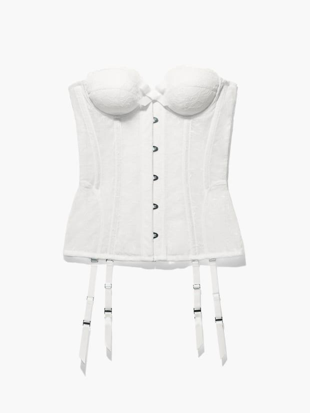 """<p>Savage X Fenty Embroidered Lace Corset, $100, <a href=""""https://rstyle.me/+OZ-G3pji74iZySdn0ro90w"""" rel=""""nofollow noopener"""" target=""""_blank"""" data-ylk=""""slk:available here"""" class=""""link rapid-noclick-resp"""">available here</a> (sizes XS-3X). </p>"""