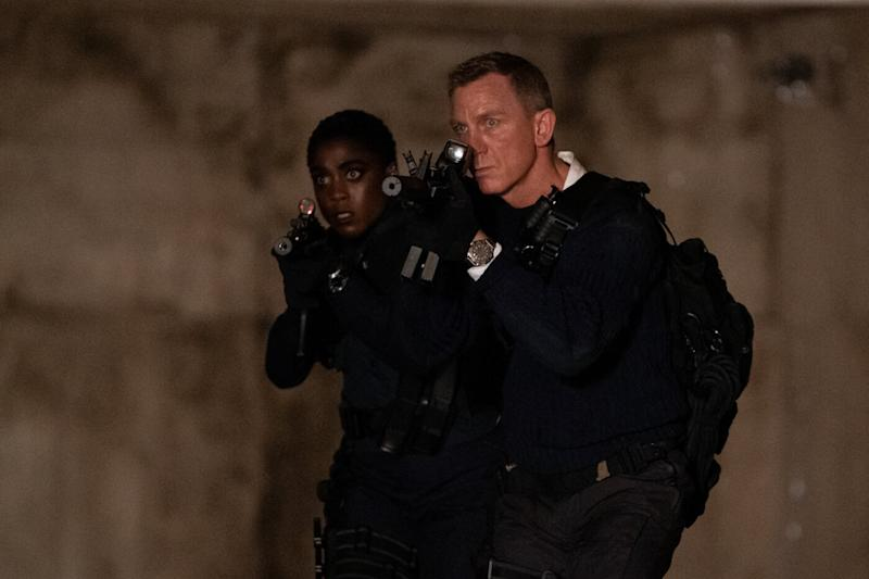 Lashana Lynch and Daniel Craig in a still from 'No Time To Die'. (Credit: Eon/Universal)