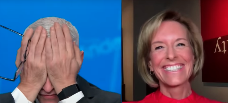 Pictured is CNN's Anderson Cooper wiping his eyes while speaking with Randi Kaye.