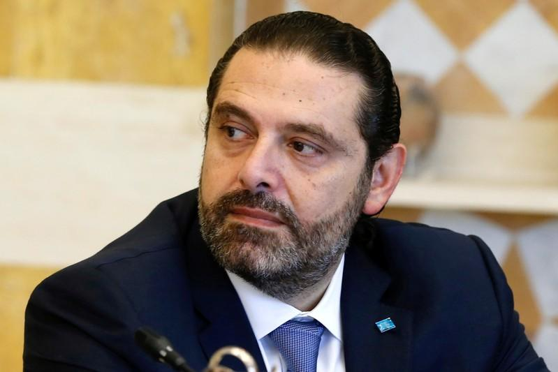 FILE PHOTO: Lebanon's Prime Minister Saad al-Hariri attends a cabinet session at the Baabda palace