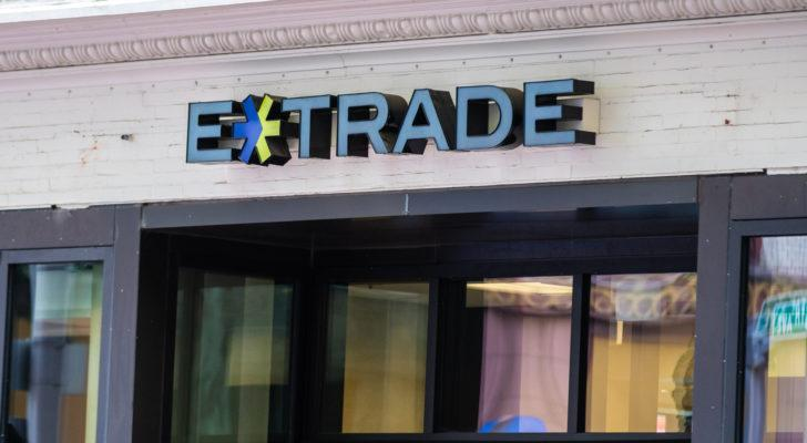 etrade (ETFC) logo on building